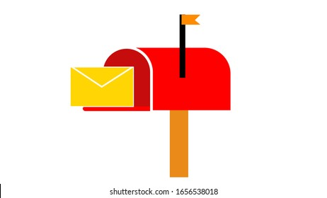 Mail box illustration in the flat style
