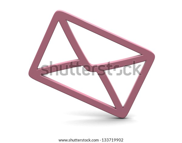 mail on the white background