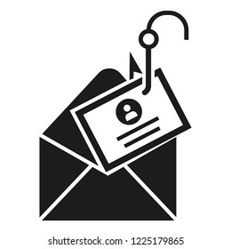 Mail phishing icon. Simple illustration of mail phishing icon for web design isolated on white background