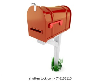 Closed Mailbox In Mailbox Isolated On White Background 3d Illustration Royalty Free Closed Images Stock Photos Vectors