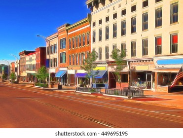 Main street depiction