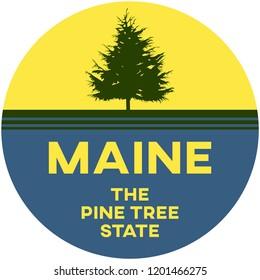 maine: the pine tree state | digital badge