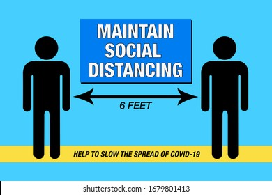 Maintain Social Distancing, COVID-19— Illustration