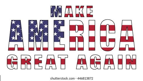 Make America Great Again - slogan for Republican 2016 presidential campaign