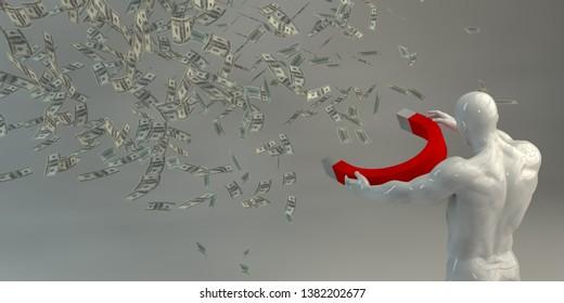 Make Money Investing with Maximum Profits Business Concept 3D Render