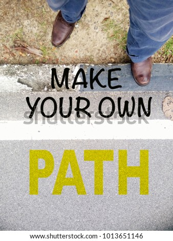 Make Your Own Path Quotes Inspirational Stock Illustration