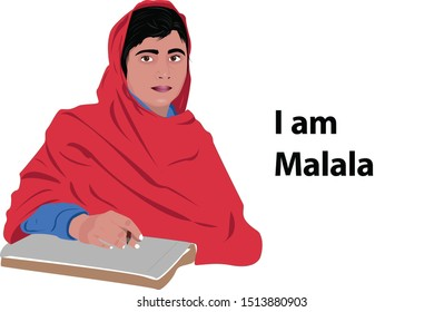 Malala Yousafzai Portrait  Malala Yousafzai, also known mononymously as Malala is a Pakistani activist for female education and the youngest Nobel Prize
