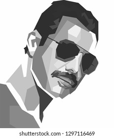 Malang, Indonesia - January 28, 2019 :Freddie Mercury was a British singer-songwriter and record producer, best known as the lead vocalist of the rock band Queen