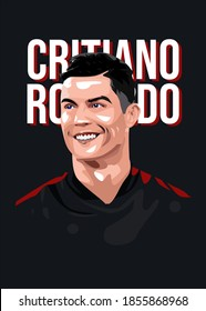 Malang, Indonesia, November 16 2020. Cristiano Ronaldo is football player from Portugal