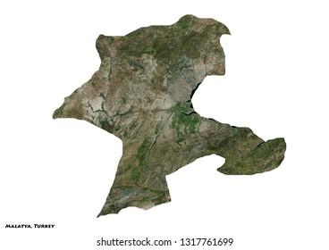 Malatya, Turkey Map (3D illustration)