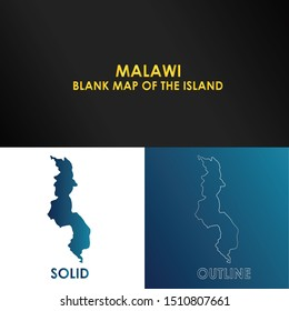 Malawi Blank map of the Island Malawi of for your infographic.