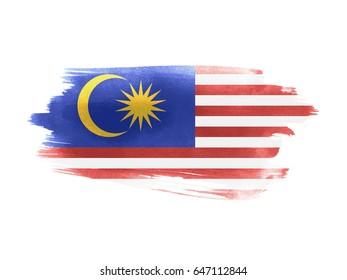 Malaysia flag grunge painted background