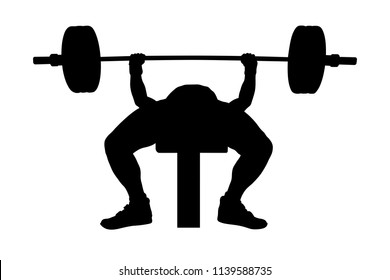 Marvelous Bench Press Exercise Stok Illustrasyonlar Gorseller Ve Gmtry Best Dining Table And Chair Ideas Images Gmtryco