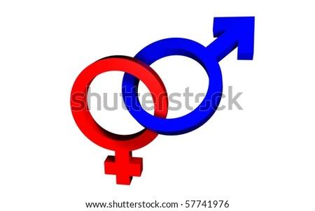 Male Female Symbols Blue Red Stock Illustration 57741976 Shutterstock