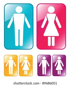 Male and female WC sign.  Raster version.