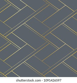 Male luxury seamless pattern. Gray and gold background. Raster version