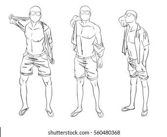 male pose