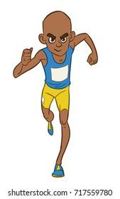 Male Runner Cartoon