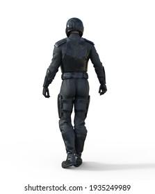 male Sci-Fi Starship Pilot 3d rendering
