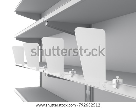 Mall Shelf Wobbler Shelfstopper Template Mockup Stock Illustration