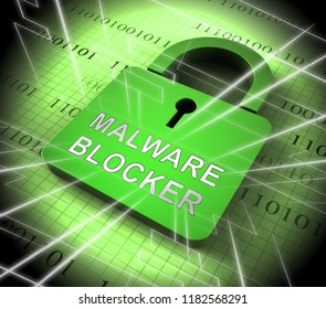 Malware Blocker Website Trojan Protection 3d Rendering Shows Safety Against Annoying Malicious Internet Virus And Trojan