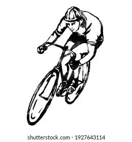 man driving a cycle illustration