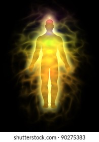 Man energy body - aura