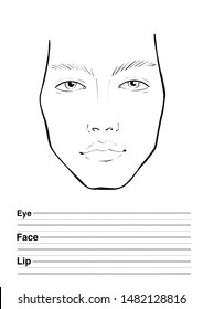 man face chart in black and white