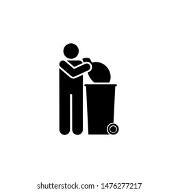 Man, garbage, trash, waste icon. Element of daily routine icon