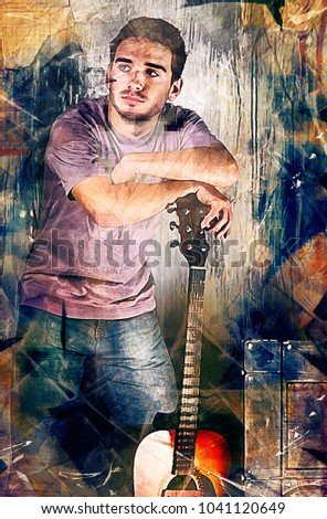 the guitarist painting