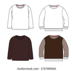 Man long sleeve t-shirt illustration