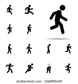 man moving icon. Walking, Running People icons universal set for web and mobile