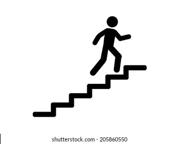 man on stairs  icon