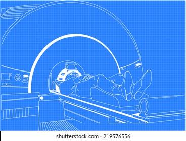 Man in scanner.