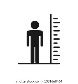 Man tall scale icon. Vector Illustration height symbol. Tall person icon