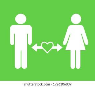 Mann und Frau mit Abstand, Begriff der sozialen Distanz