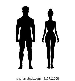 man and woman icon body figure sport  art