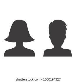 Man and woman profile icon design illustration