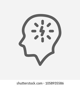 Manage stress icon line symbol. Isolated  illustration of  icon sign concept for your web site mobile app logo UI design.