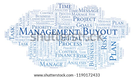 Management Buyout Word Cloud Made Text Stock Illustration  Royalty  Management Buyout Word Cloud Made With Text Only