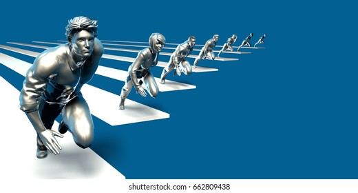 Management Strategy and Structured Team Dynamics as Concept 3D Illustration Render