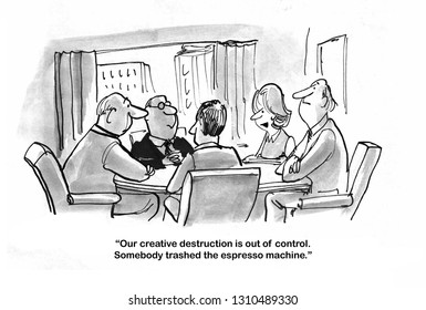 Management team meets to talk about out of control R&D
