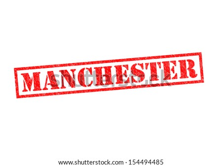 MANCHESTER Rubber Stamp Over A White Background