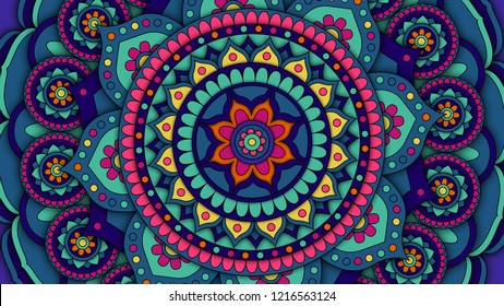 Mandala pattern for meditation, yoga design,  chill-out, relaxing, music posters and covers, traditional Hindu and Buddhist theme designs.