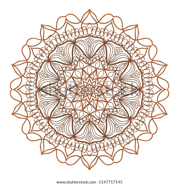 Mandala Style   Color Shapes. Abstract design. Decoration for fashion, holiday card, relax illustration