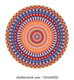 Mandala stylized pattern with floral motives. /Mandala Design