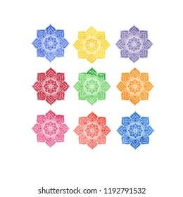 mandala watercolor set