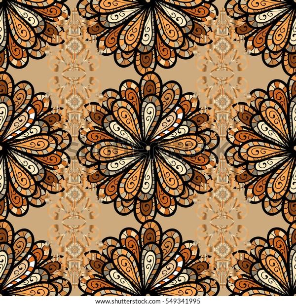 Mandalas Background Raster Illustration Texture Colorful Stock Illustration  549341995
