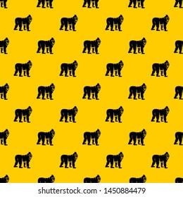 Mandrill monkey pattern seamless repeat geometric yellow for any design