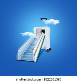Manipulated Design For Travel. 3d Illustration concept. manipulation Design This Concept for travel agencies  3d